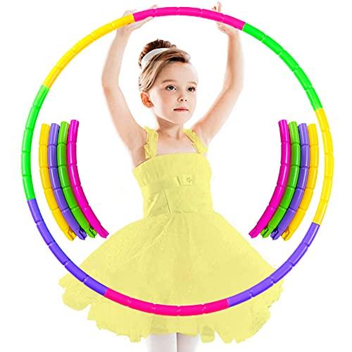 8 Abschnitte Hoola-Reifen für Kinder,Abnehmbare Fitness Gymnastik Kreis Reifen,Fitness Gymnastik Kreis Reifen,Hoola-Reifen,Gymnastik Kreis,Kinder Gymnastik Kreis farbig,für Training,Sport & Spiel (A1)