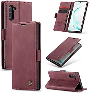 Flip Leather Case For Samsung galaxy note 10 - Burgundy