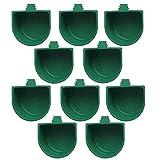 Ciotola di Pappagalli Ciotola per Acqua Ciotola per Cibo per Uccelli Ciotole per Uccelli per L'alimentazione Degli Uccelli Pappagallo Parrocchetto Gabbia per Uccelli Accessori, Verde, 10 Pezzi