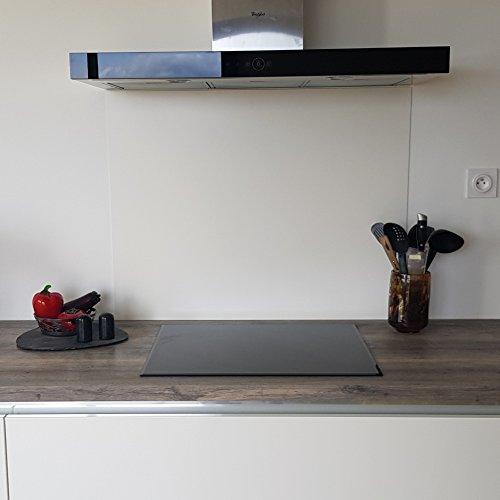 AluCouleur Fond de hotte/Crédence Aluminium Blanc-MAT-10 Tailles - Hauteur 50 cm x (Longueur 60 cm)
