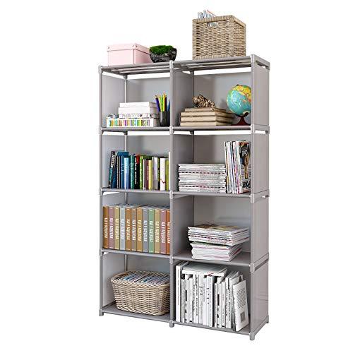 Rerii Bedroom Storage Shelves Storage Cubes Organizer Shelf Small Bookshelf for Small Spaces Standing Shelving Units for Bedroom Living Room Closet