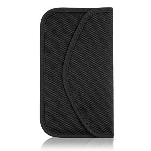 Teléfono móvil Bloqueador de señal de radiofrecuencia Jammer Funda Protectora Anti-radiación Bolsa Bolsa Bolsa de Bloqueo de señal de RF-Negro