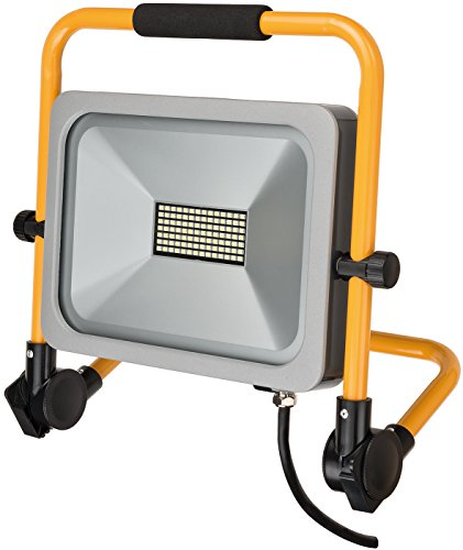 Brennenstuhl Mobiler Slim LED-Strahler / LED Strahler für außen und innen (Baustrahler IP54, LED Fluter 50 Watt)