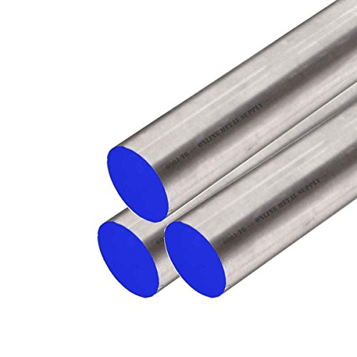 """Online Metal Supply 6061-T6511 Aluminum Round Rod, 0.375 (3/8 inch) x 12 Feet (3 Pieces, 48"""" Long)"""