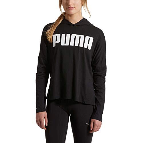 Puma Ladies Hooded Tee (M, Puma Black)