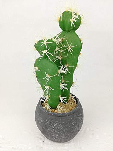 Unbekannt Künstlicher Kaktus im Topf Deko Sommer Garten Home Outdoor Landhaus Wohnambiente Flair Wohnen