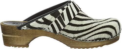 Sanita Damen Caroline open Clogs, Mehrfarbig (Zebra 88), 42 EU