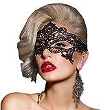 ANGAZURE Máscara Encaje Negro , Lace Mask Máscaras De Encaje para Fiesta Mascaras Carnaval