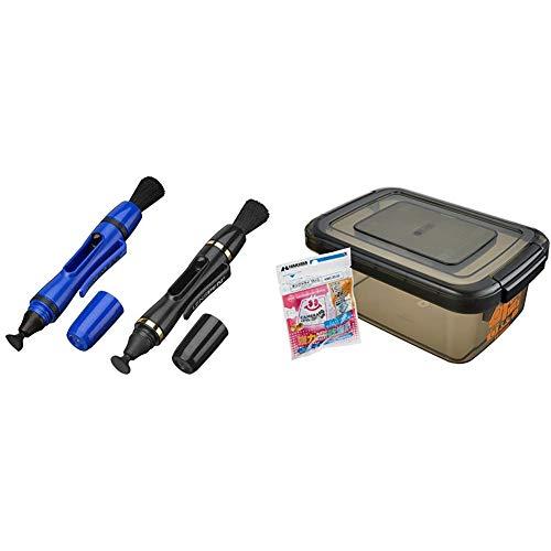 【セット買い】HAKUBA メンテナンス用品 レンズペン3 レンズ用 + フィルター&液晶画面用 2本セット ブルー/ブラック KMC-LP24STBL & HAKUBA ドライボックスNEO 5.5L スモーク KMC-39