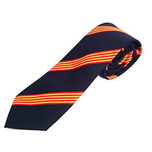 Corbata azul bandera catalana - corbata catalana - corbata bandera catalunya - cataluña - Corbata azul con bandera de cataluña - Petro Baldini