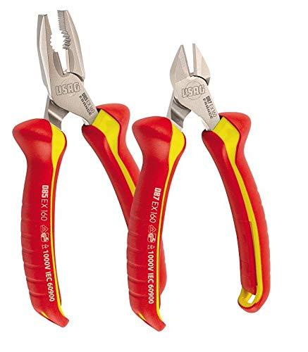 Usag U00850120 Serie pinzas aisladas 1000 V, rojo