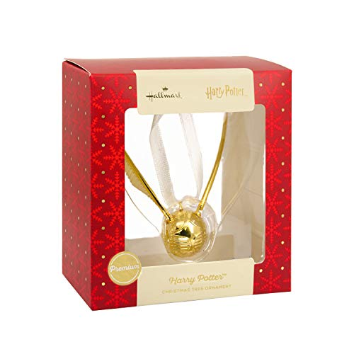 Hallmark 2018 Exclusive Premium Harry Potter Golden Snitch Metal Christmas Ornament