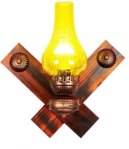 Luces de pared industriales, Retro Kerosene Lámpara de pared industrial Antiguo Apareado de carbón Vidrio Aplicaciones Arte de hierro LED Luz de pared Bar Café Restaurante Pasillo Aisle Decoración Lav