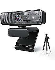 webカメラ 自動フォーカス 三脚付き Xproject ウェブカメラ マイク内蔵 フルHD 1080P 30fps 200万画素 小型 PC カメラ 96°広い視野角 360°回転可能 usb充電 自動光補正 ウェブ会議用WindowsXP/VISTA/win7/wim8/wim10