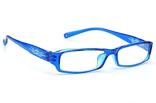 morefaz New Unisex (Damen Herren) Flower Blumen Retro Vintage Lesebrille Brille +0.50 +0.75 +1.0 +1.5 +2.0 +2.5 +3.00 +4.00 Reading Glasses (TM) (+0.75, Blue)