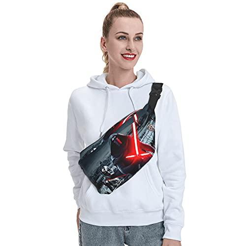 Skylivenation Star Yoda Wars - Mochila bandolera resistente al aire libre, mochila cruzada con correa antirobo, mochila ligera para senderismo, bolsa de viaje para hombres y mujeres.