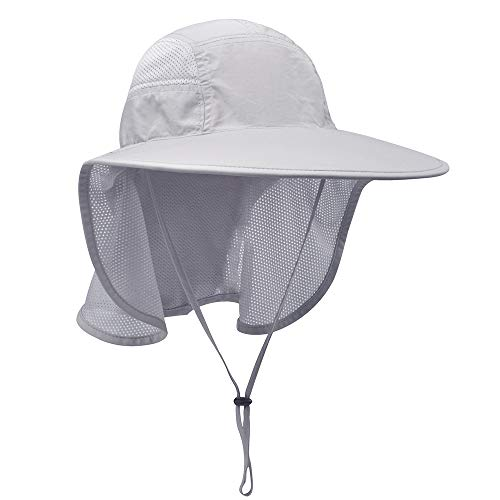 Lenikis Unisex UV Protecting Sun Hat with Neck Flap