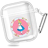 huijiameikeji Alices Adventures in Wonderland maravilhas Queen of Hearts convite Transparent Shell Case Cover for AirPods 1/2 XTBD-023