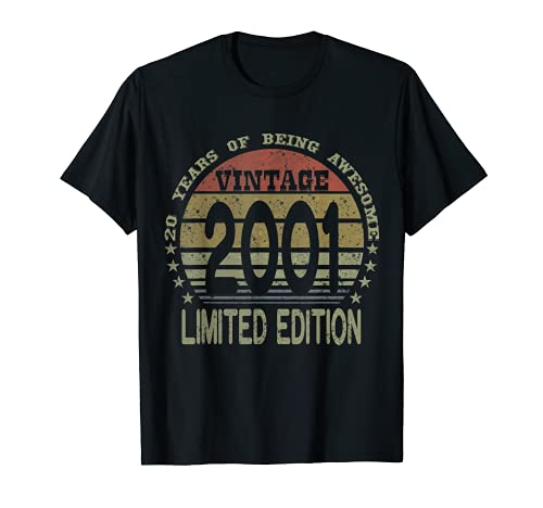 20 Year Old Gifts Vintage 2001 Limited Edition 19th Birthday T-Shirt