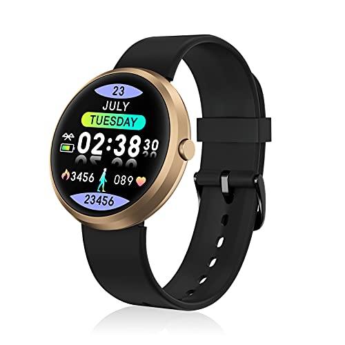 BOZLUN Smartwatch, Reloj Inteligente a Prueba de Agua IP67 con rastreador de Actividad física, Monitor de sueño, Monitor de frecuencia cardíaca, Pulsera para Mujeres y Hombres para Android iOS