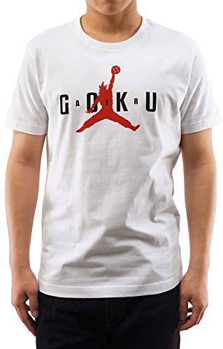 GMYG Air Goku Camiseta para Hombre/Mujer Dragon Ball Z Japonés Anime 100% Algodón T-Shirt (Blanco, L)
