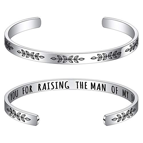 Mother of The Groom Gifts from Bride Bracelet - Thank You for Raising The Man of My Dreams Bracelet...