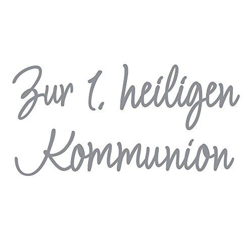 Rayher 31584606 Wachsschrift: Zur 1.heiligen Kommunion, silber, SB-Btl 1Stück