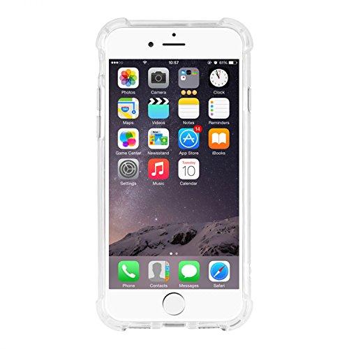 iPhone 8 Plus Shockproof Crystal Hülle Hülle [Transparent] Extrem Outdoor Schutz [Air-Bag] Handyhülle TPU Silikon + Hardcase
