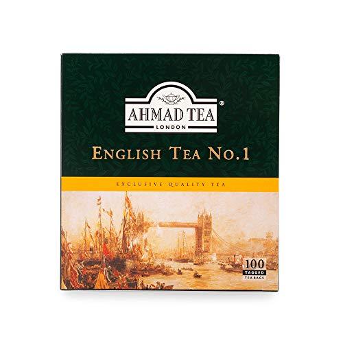 Ahmad Tea English Tea No.1 Tagged Teabags, 100 Count