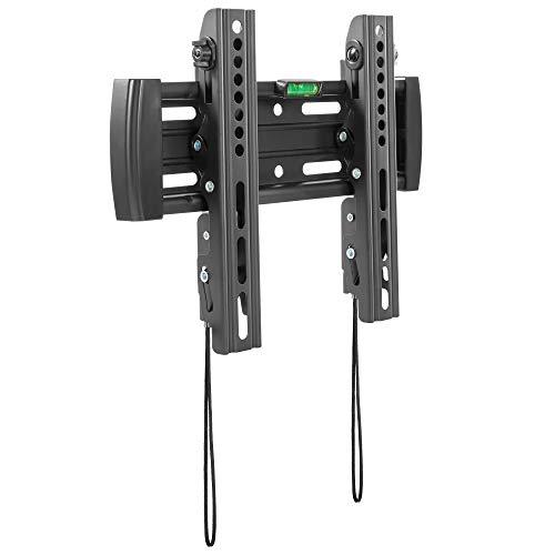 RICOO N4522, TV-Wandhalterung, Neigbar, Flach, Universal 23-42 Zoll (58-107 cm), TV-Halterung, Curved LCD LED Fernseher, bis VESA 200x200, Schwarz