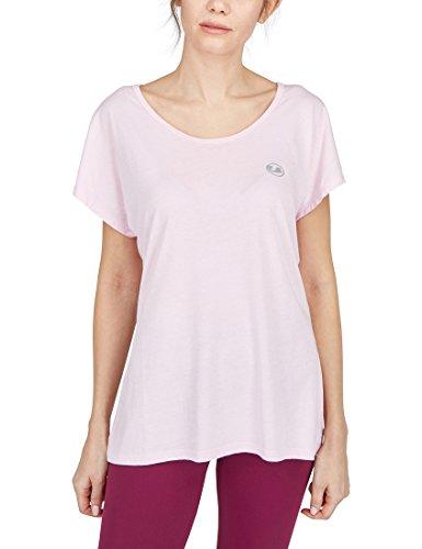Ultrasport Balance T-shirt de yoga/fitness Femme, Rose, X-Small