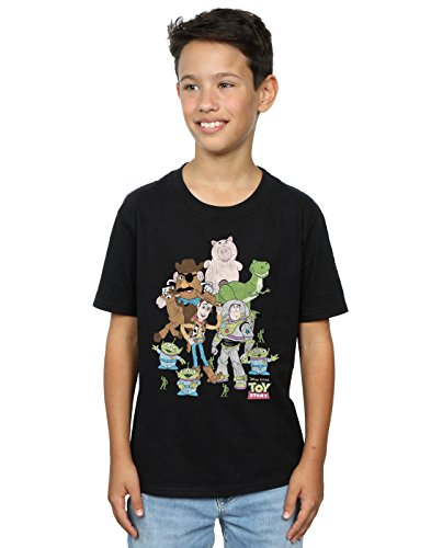 Disney Boys Toy Story Group Shot - Maglietta con logo classico, confezione da 2 Multi 12-13 Anni