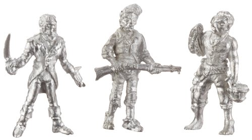 Soclaine - Maquette - Boîte de 3 personnages corsaires