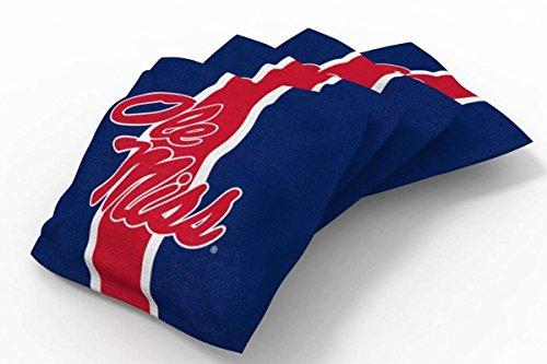 PROLINE 6x6 NCAA College Ole Miss Rebels Cornhole Bean Bags - Stripe Design (A)