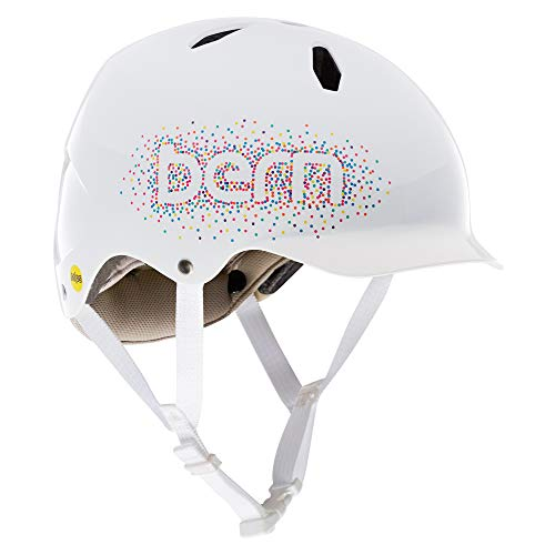 Bern Unisex-Youth Bandito Helm, weiß-Confetti, S/M