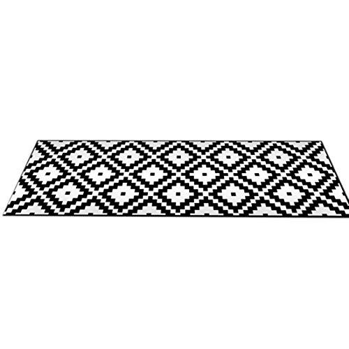 Bverionant - Alfombra Antideslizante para Cocina, Alfombra Absorbente Decorativa para Dormitorio, salón, baño o Entrada, poliéster, 12, XL,50 * 160cm