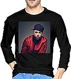 Photo de Nicky Jam Men's Fashion Classic Round Neck Long-Sleeved T-Shirt Top,Black,Medium
