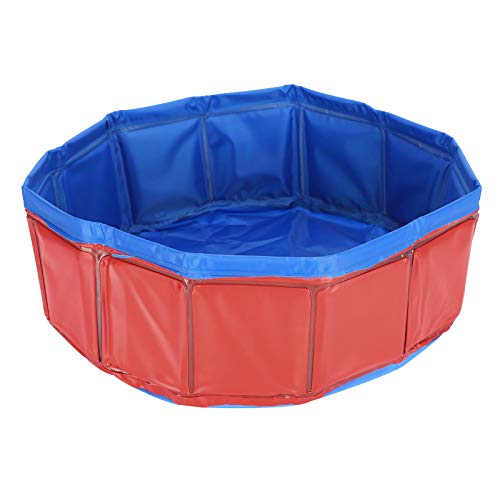 FAMKIT Piscina para perros, piscina para perros, piscina para perros, piscina de plástico para niños, bañera plegable para mascotas, piscina grande portátil para perros, gatos e interior y exterior