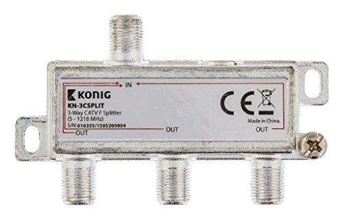König KN-3CSPLIT 3-weg F-verdeler 5 CATV 1,218 MHz