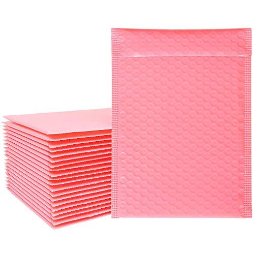 Luftpolsterumschläge, selbstklebend, umweltfreundlich, leicht, Pink, 15,2 x 22,9 cm,...