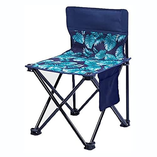 KUYH Silla plegable portátil al aire libre, silla de camping multifuncional, mochila ultraligera, con bolsa de almacenamiento, adecuado para senderismo, camping, picnic, playa