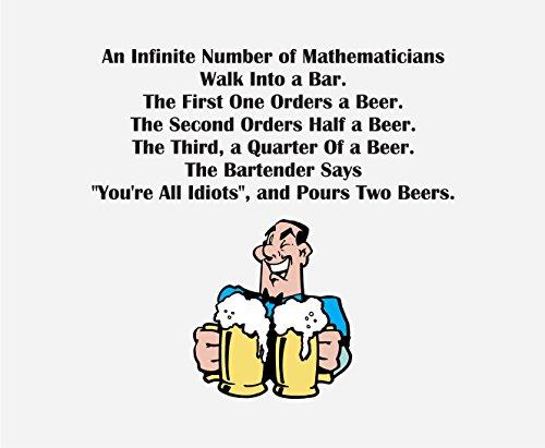 CP189 Matematicians Bestel bier, Barman zegt dat je allemaal idioten Nieuwigheid Gift Gedrukt PC Laptop Computer Mouse Mat Pad