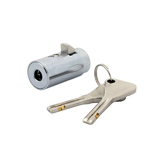 FJM Security 8501B-KA European Style Vending Machine Lock with Chrome Finish, Keyed Alike (MEI-8501)