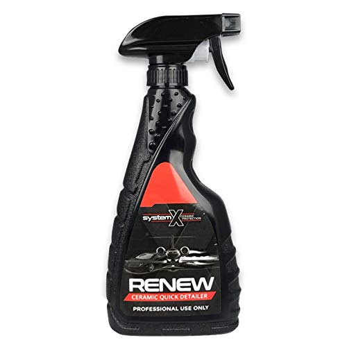System X Renew Ceramic Spray Coating - Ultra Hydrophobic DIY Ceramic Nano Coat - Super Slick Finish & Feel - Superior to Wax & Polymer Sealants - 9+ Months of SiO2 Paint Protection 16.9oz