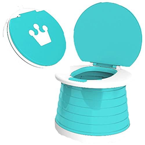 Tixiyu - Vasino portatile per bambini, vasino pieghevole da viaggio, vasino per insegnare l'uso del WC ai bambini, gabinetto per bambini, WC per auto, adatto per all'aperto e per uso domestico