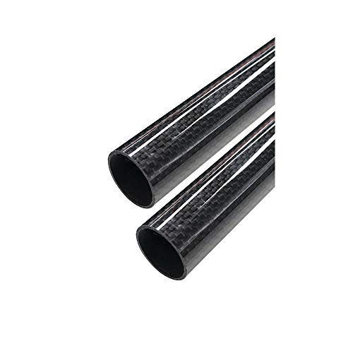ARRIS 30mm Outer Dia. 28mm x 30mm x 500mm 3K Roll Wrapped 100% Carbon Fiber Tube Glossy Surface (2 PCS)