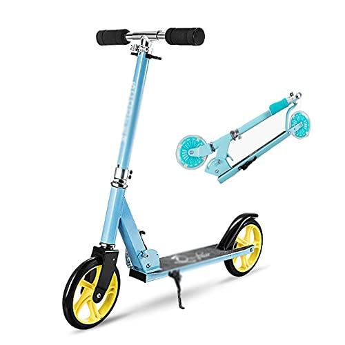 Dream ZX Scooters de competición de 2 Ruedas, Scooters de Pedales para niños y Adolescentes, Scooters Escolares para Juguetes de 6 años o más Regalo de cumpleaños (Color : Blue)