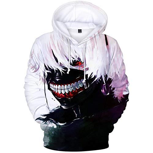 Unisex Tokyo Ghoul Kapuzenpullover Tops Fashion Hoodie Kordeltasche Pullover Hooded Sweatshirt-A_M