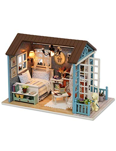 UniHobby DIY Dollhouse Miniature Kit Romantic Forest Time Wooden Gift House Toy