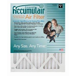 MERV 13 Air Filter//Furnace Filters Actual Size 2 Pack Accumulair Diamond 19.5x21x1